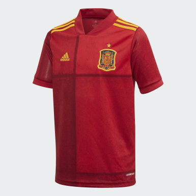 Youth 8-16 Years Football Red Spain Home Jersey