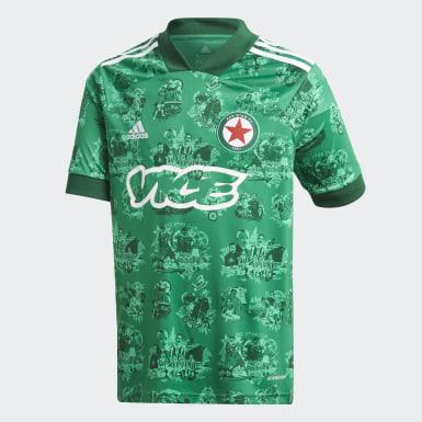Camisola Principal 20/21 do Red Star FC Verde Criança Futebol