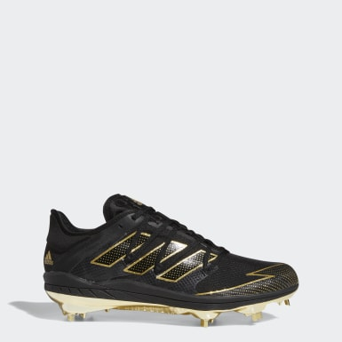 Adizero Afterburner 7 Gold Cleats