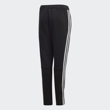 Kids Football Black Tiro 19 French Terry Pants