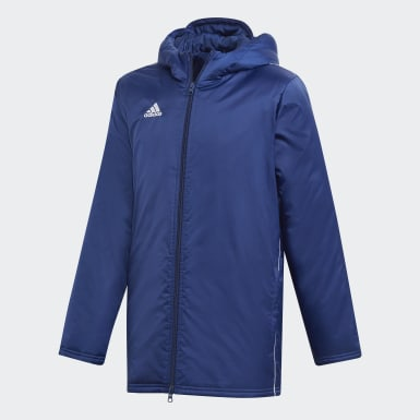 Barn Fotboll Blå Core 18 Stadium Jacket