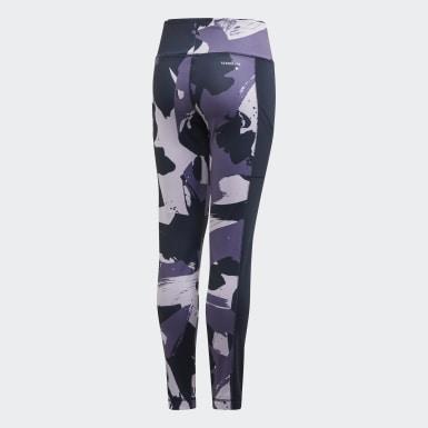 Meisjes Yoga Paars Allover Print Legging