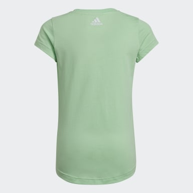 Girls Training Green Graphic Tee