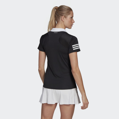 Women Tennis Black Club Tennis Polo Shirt
