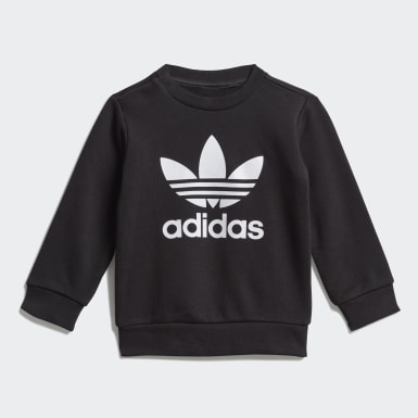Ensemble Crew Sweatshirt Noir Enfants Originals