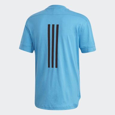 Erkek Athletics Turkuaz ID 3 Bantlı Tişört