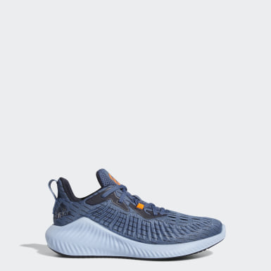 Kids Running Blue Alphabounce+ Run Shoes