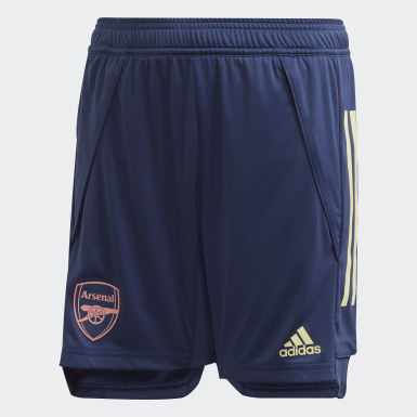 Youth 8-16 Years Football Blue Arsenal Training Shorts