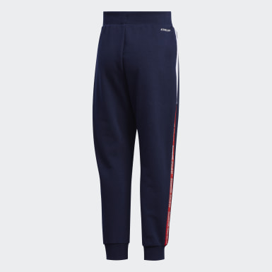 Boys Training Blue French Terry Knit Pants