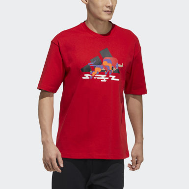 Men Athletics Red CNY Graphic Tee