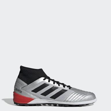 Zapatos de Fútbol Predator TAN 19.3 Césped Artificial Plateado Hombre Fútbol