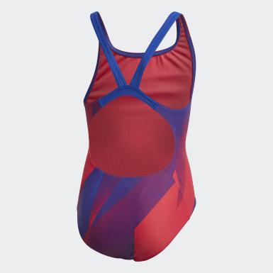 Mädchen Schwimmen Girls Graphic Badeanzug Rosa