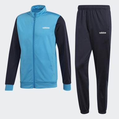 Männer Training Linear Tricot Trainingsanzug Blau