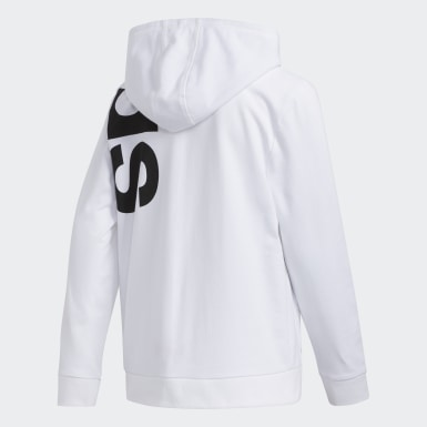 Youth Training White French Terry Hoodie