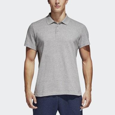 Camisa Polo Básica Essentials Cinza Homem Training