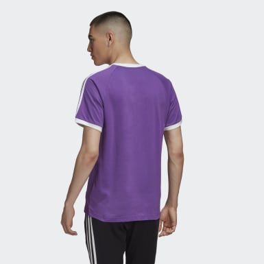 Men Originals Purple 3-Stripes T-Shirt