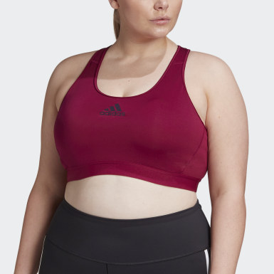 Women Yoga Burgundy Don't Rest Alphaskin Padded Bra (Plus Size)