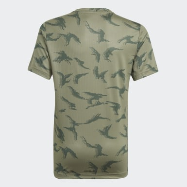 Kluci Athletics zelená Tričko adidas Designed To Move Camouflage