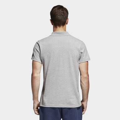 Erkek Sport Inspired Gri Essentials Basic Polo Tişört
