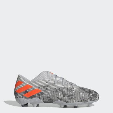 Zapatos de Fútbol Nemeziz 19.2 Terreno Firme Gris Hombre Fútbol