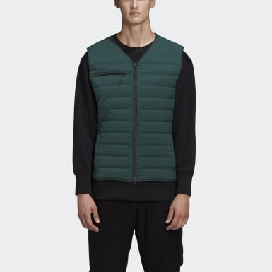Men Y-3 Green Y-3 Classic Light Down Liner Vest