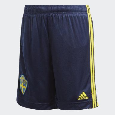 Домашние шорты сборной Швеции