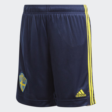 Youth 8-16 Years Football Blue Sweden Home Shorts