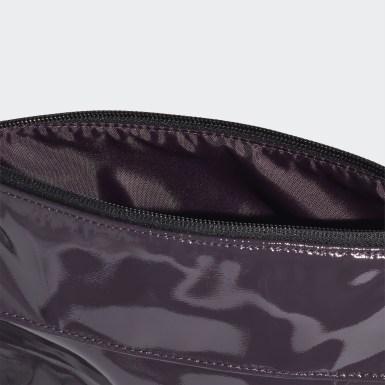 Bolsa Cross-Body Material Brilhante Roxo Mulher Training