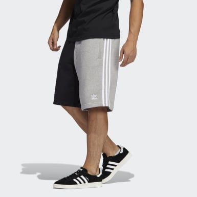 Mænd Originals Grå Blocked 3-Stripes joggingsshorts