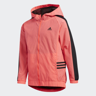 Youth Training Pink Core Hooded Wind Jacket