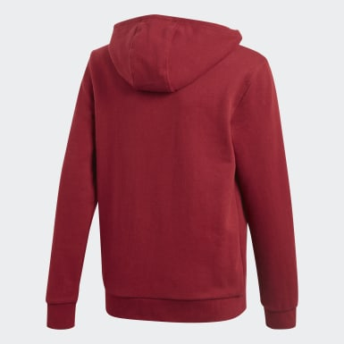 Youth Originals Burgundy Trefoil Hoodie