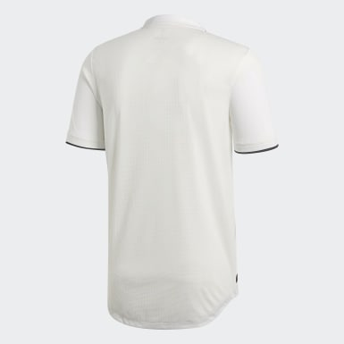 Maillot Real Madrid Domicile Authentique Blanc Hommes Football