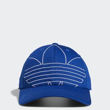 Men's Originals Blue Relaxed Outline Strap-Back Hat