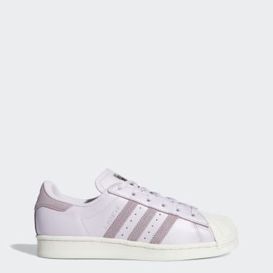 Women Originals Purple Superstar Shoes