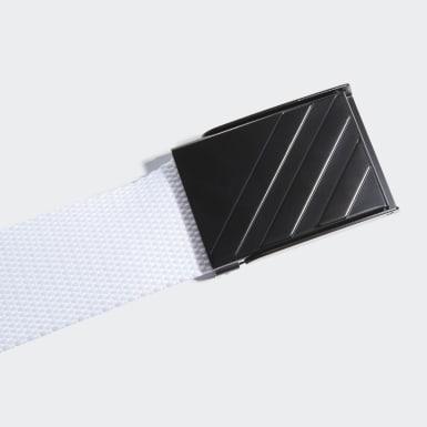 Men Golf White Webbing Belt
