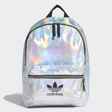 Women Originals Silver Metallic Backpack