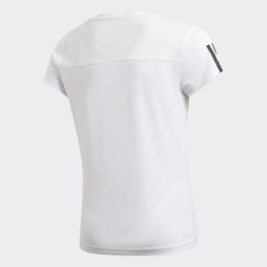 เด็กผู้หญิง โยคะ สีขาว เสื้อยืด Equip