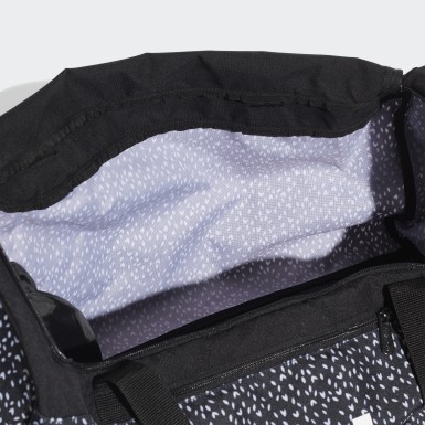 Athletics Black Linear Duffel Bag
