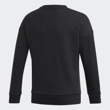 Mädchen Training Must Haves Badge of Sport Sweatshirt Schwarz