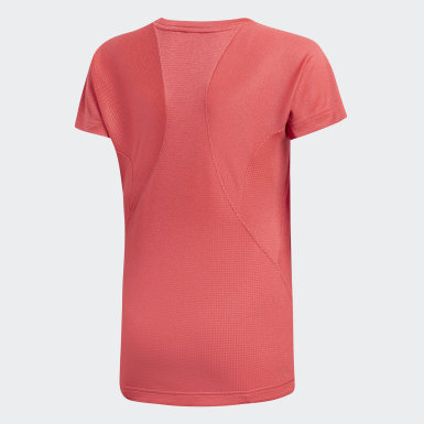 Youth Training Pink Climachill Training Tee