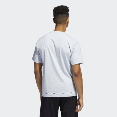 Linear Logo Repeat Short Sleeve Tee Niebieski
