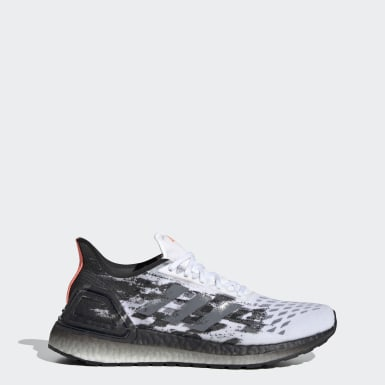 Women Running White Ultraboost PB Shoes