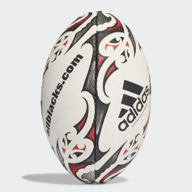 Mini ballon de rugby Nouvelle-Zélande Blanc Garçons Rugby