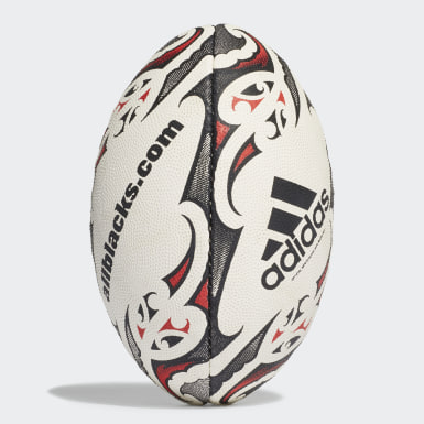 Youth 8-16 Years Rugby White New Zealand Mini Rugby Ball