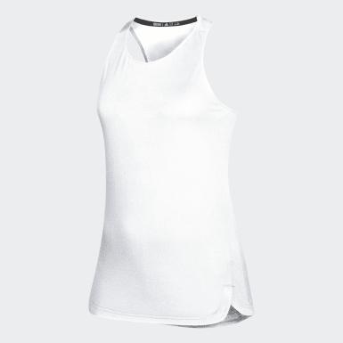 Women's Yoga White Game Mode Training Tank Top