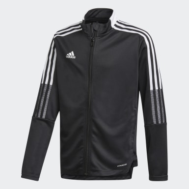 Youth Soccer Black Tiro 21 Track Jacket