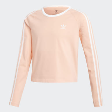 3-Stripes Cropped Long-Sleeve Top