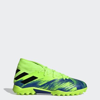 Fodbold Grøn Nemeziz 19.3 Turf støvler