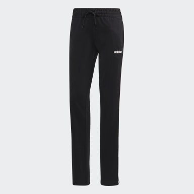 Pantalon droit en maille Essentials noir Femmes Essentials