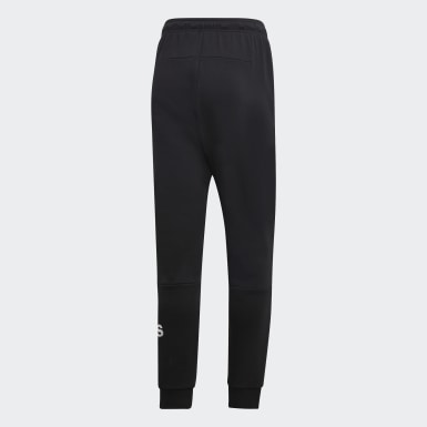 Men Sport Inspired Black Must Haves French Terry Badge of Sport Pants